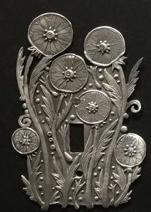 """Dandelion"" switchplate cover by Leandra Drumm (#155)"