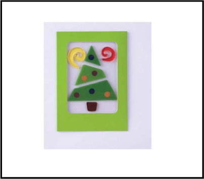 GelGems, 6 Holiday Cards (geo tree)