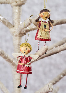 """Tree Trimming Ornaments"", set of 2 by Lori Mitchell"