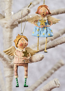"""Babes in Toyland Ornaments"", set of 2 by Lori Mitchell"