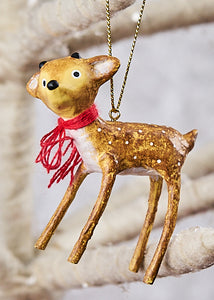 """Baby Reindeer Ornament"", set of 2 by Lori Mitchell"
