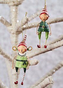 """Tootsie and Tinker Ornaments"", set of 2 by Lori Mitchell"
