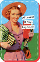 Anne Taintor Vinyl KeyRing, Happiness