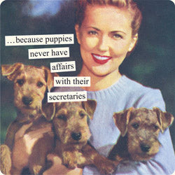 Anne Taintor magnet: puppies
