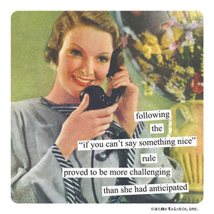 "Anne Taintor Magnet, ""something nice"""