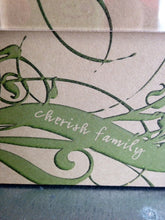 "Ribbon Frame-""Cherish Family"""