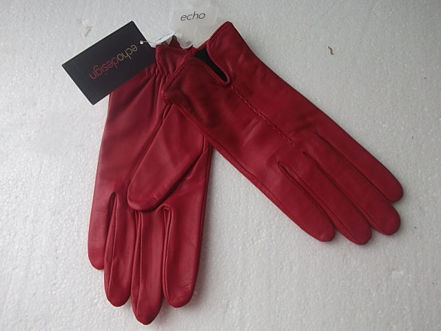 Red Leather Gloves by Echo Design