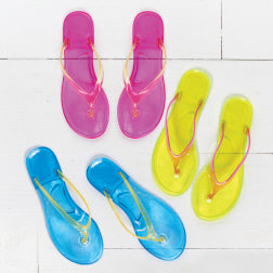 Jelly Flip-Flop Sandals!  Size 7-8