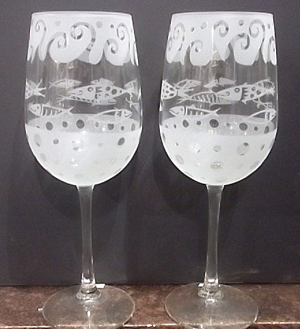 Leandra Drumm Wine Glasses, set of 2,