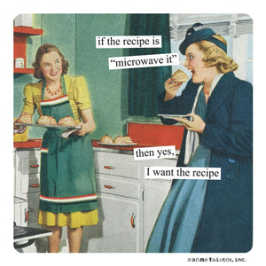 "Anne Taintor Magnet, ""microwave it"""