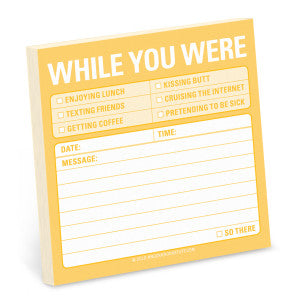 "Sticky Notes ""While you were....."""