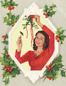 Anne Taintor Boxed Holiday Cards-Mistletoe