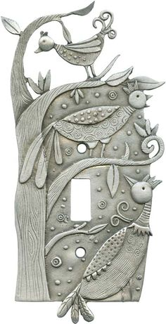 Bizarre Birds switchplate cover, Leandra Drumm (#92)