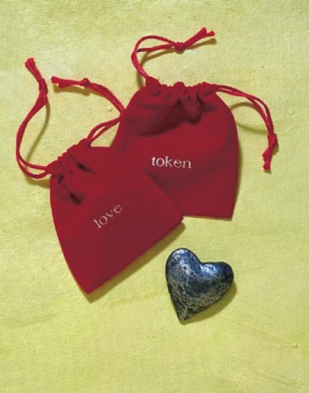 Love Token in a velvet bag