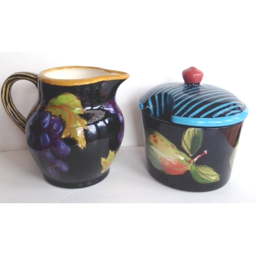 Droll Designs Creamer and Sugar bowl
