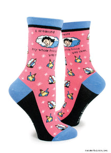 Anne Taintor Crew Socks ~ I dreamed