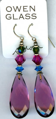 Owen Glass Earrings, Cabaret #9