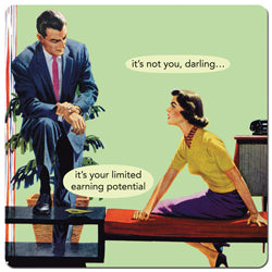 "Anne Taintor magnet ""it's not you, darling... it's your limited earning potential"""