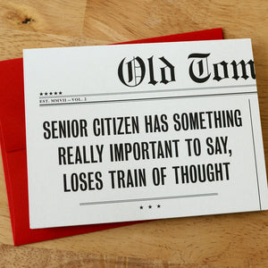 """Senior Citizen"" Birthday Card"
