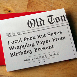 """Pack Rat"" Birthday Card"