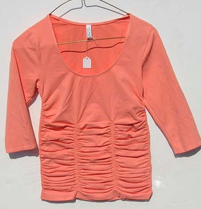 Last Tango Rouched Top - Coral
