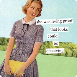 Anne Taintor magnet 'living proof'