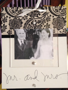 Wedding Frame- Mr. and Mrs.