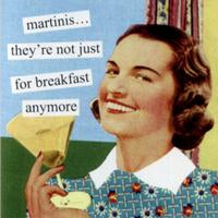 Anne Taintor napkins 'Martinis'
