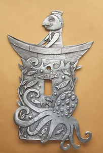 """Sailor Boy"" switchplate cover by Leandra Drumm (#125)"