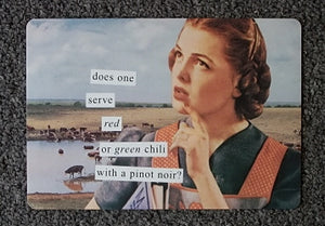 "Anne Taintor Postcard with Magnet ""pinot noir"""