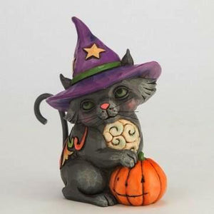 "Jim Shore ""Mini Black Cat Witch"" 4047843"
