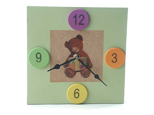 Green Bear Clock