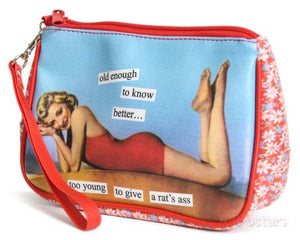 Anne Taintor Cosmetic Bag/Old enough to know better...