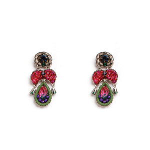 "Ayala Bar Earrings ""Raspberry Truffle"" 1926"