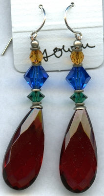 Owen Glass Earrings, Cabaret #1
