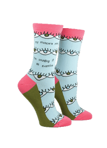 Anne Taintor Crew Socks ~ my mascara ran