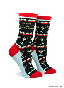 Anne Taintor Crew Socks ~ after four martinis