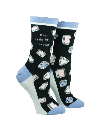 Anne Taintor Crew Socks ~ dress for the job you want