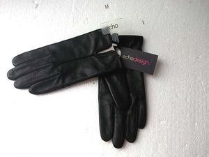Black Leather Gloves by Echo Design