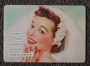 "Anne Taintor Postcard with Magnet ""common sense"""