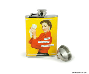 "Anne Taintor Flask ""cat lady"""