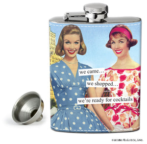 "Anne Taintor Flask ""cocktails"""