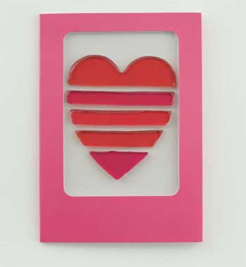 Striped Heart Card!