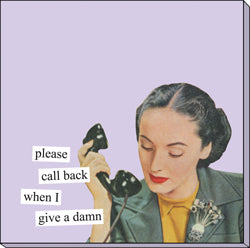 "Anne Taintor Sticky Notes ""give a damn"""