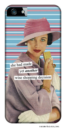 Anne Taintor Snap-On Case for iPhone 4/4S ~ Shopping