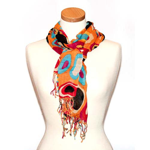 Miss Fabulosity Circles Scarf~Orange