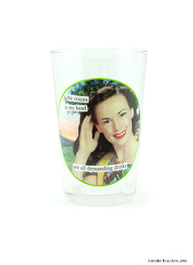 "Anne Taintor ""Juice"" Glasses ~ voices in my head"