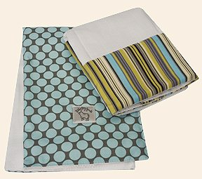 Heron Cozy Burp Cloth Set of 2