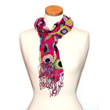 Miss Fabulosity Circles Scarf~Red