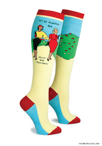 "Anne Taintor Knee Socks ~ ""drunk & disorderly"""